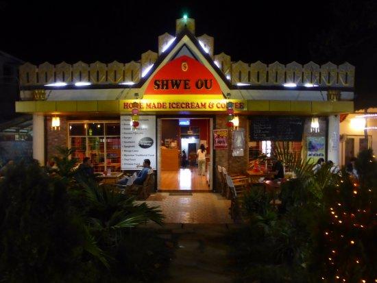Shwe Ou Food Garden: Restaurant front.....can sit inside or outside.