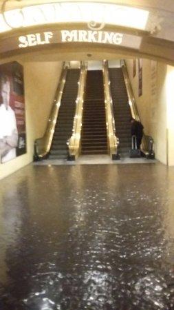 Paris Las Vegas: escaleras mecanicas dentro del hotel