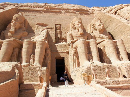 Abu Simbel Temple Complex: At entrance of the Temple of Ramses II at Abu Simbel