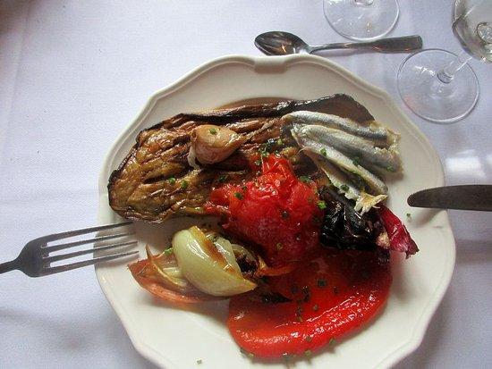 Le Domaine de Rombeau: Escalivade de légumes grillés et anchois marinés