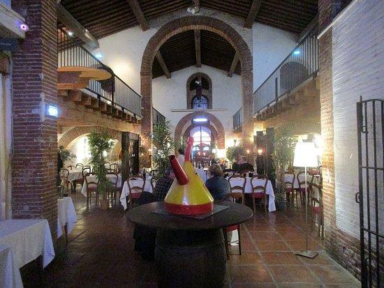 Le Domaine de Rombeau: Einer der Säle des Restaurants