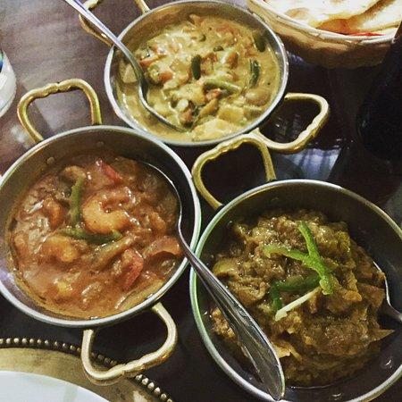 Ristorante Moghul: three main dishes