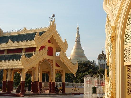 Maha Wizaya Pagoda: West Gate and Swedagon