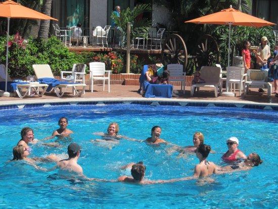 Hacienda Buenaventura Hotel & Mexican Charm All Inclusive: todos los dias aerobics en la alberca