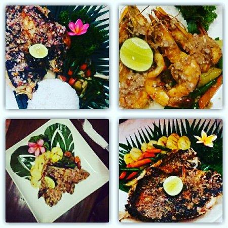 Oishii Bar & Grill Lembongan: oishi bbq sea food....