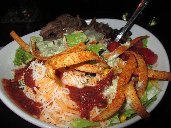 Modesto, CA: Mexican Cobb Salad, with alcatra beef. Delicious!