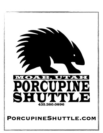 Porcupine Shuttle: Our custom logo