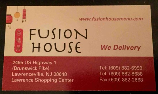 Fusion House: Business Card
