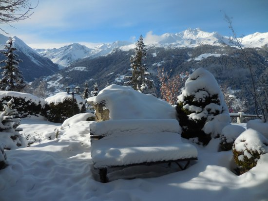 Saint-Luc, Zwitserland: Vue de la terrasse