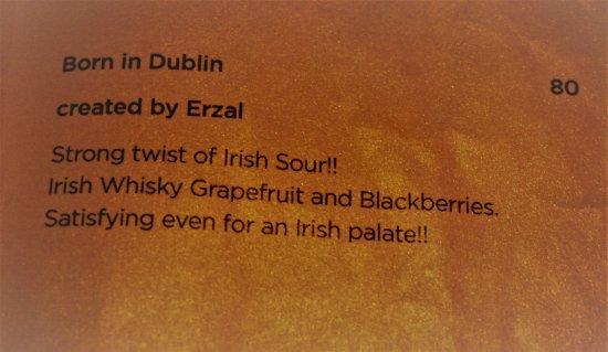 Ray's Bar: Born in Dublin - wow!!