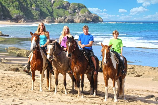 Tropical Trail Rides - Isabela: Tropical Trail Rides family at Survival Beach