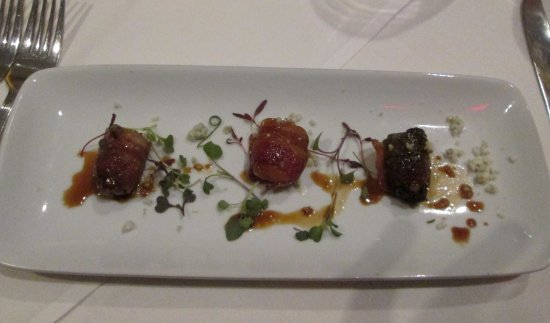 Ruth's Chris Steak House: Dates, Dried Plums and Apricot bound by bacon with Soy Ginger Glaze