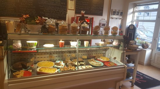 Mrs B's Coffee House: Our Desert Fridge, choose from our selection of 12 -14 deserts daily,