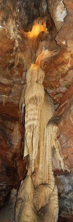 Branson ouest, MO : Powell Column (Angel formation) see on tour of Talking Rocks Cavern