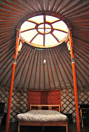Cabot Shores Wilderness Resort: Forest yurt interior