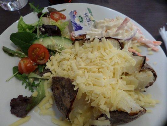 Bosham, UK: Cheese and Coleslaw Baked Potato