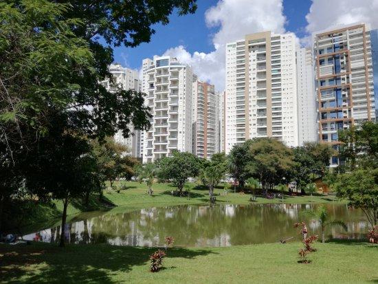Flamboyant Park: foto muy bonita del lago y los edificios