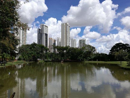 Flamboyant Park: foto del lago edificios y las nubes