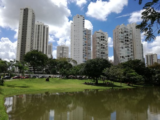 Flamboyant Park: foto de edificios junto al lago