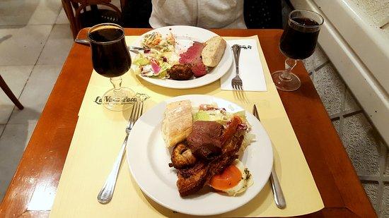 Restaurante La Vaca Paca: Ejemplo de platos