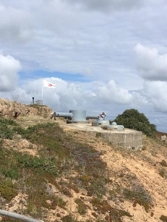 Battery Lothringen: Range Finder above M-132 command bunker