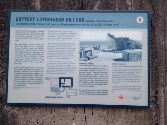 Battery Lothringen: Plenty of Information signs available.