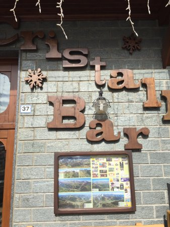 Cristall Bar Mountain Bistrot: insegna locale