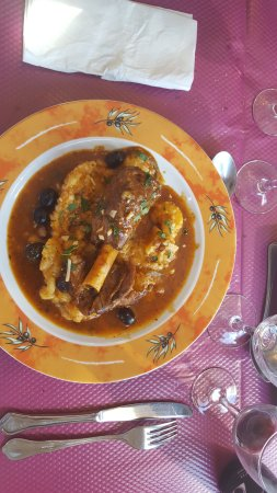 Restaurant Les Platanes: souris d'agneau et sa sauce succulante