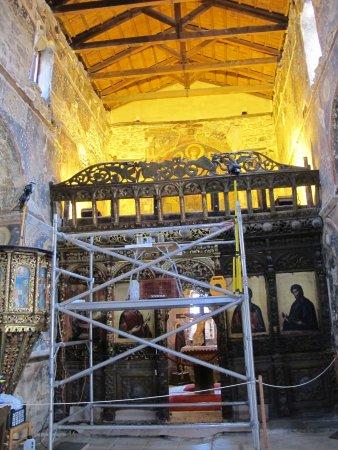 Church of the Koimisis (14th cent.): Το εσωτερικό της εκκλησίας