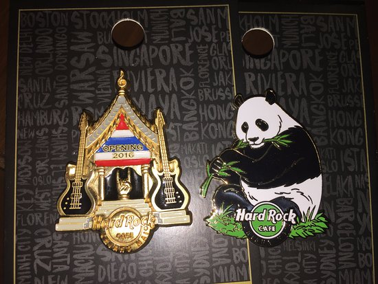 A couple of the first pins from the Chiang Mai Hard Rock Cafe