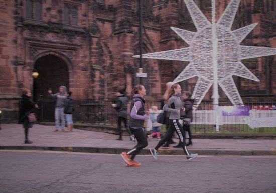 Tours Around Chester: Running past Chester Cathedral