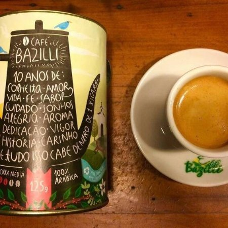 Caconde, SP: Cafe Bazilli, o cafe dos papas!
