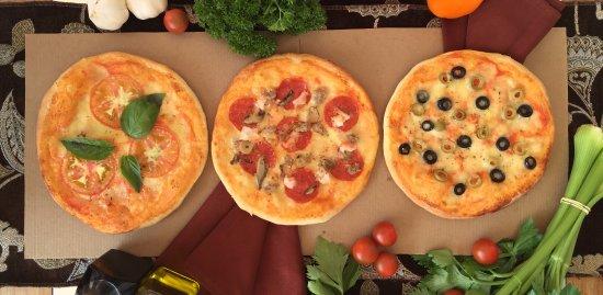 Ristorante Il Padrino: Pizza Margarita, Pizza Padrino, Pizza de Aceitunas