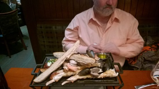 Mitchell's Fish Market: the sea food grill was HUGE!