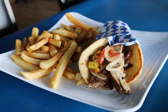 Mesquite, TX: Pork pita with fries!