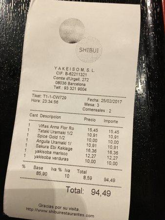 Shibui: Por desgracia, no puedo recomendar ninguno de los platos que pedí, caro por la calidad ofrecida.
