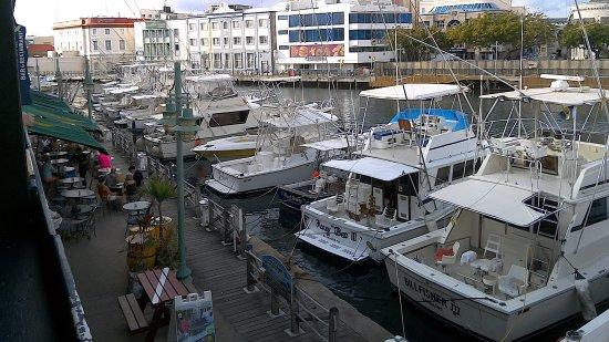 Marina Bar & Restaurant: View from the bar balcony
