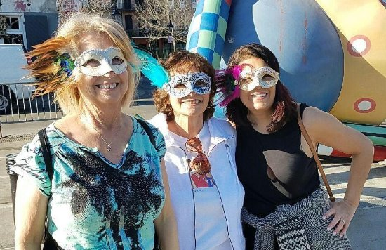 French Quarter RV Resort: Go to the market, and buy your masks before you go to a Mardie Gras parade.