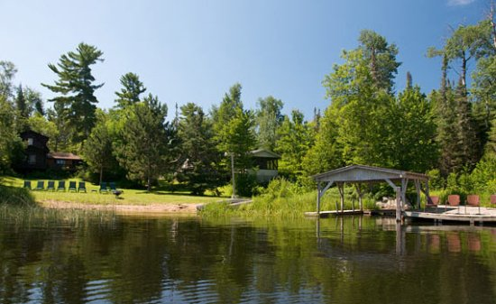 Cook, MN: View of Wakemup and Balsam Cabins