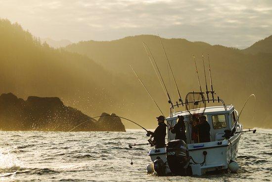 The Lodge at Englefield Bay (Westcoast Resorts): Fish on!