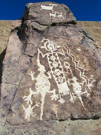 Ridgecrest, CA: Petroglyphs from a canyon in China Lake