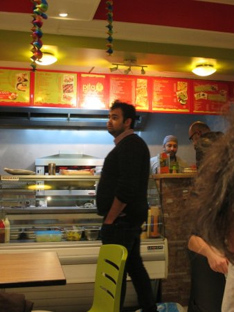 Excellent kebab place in Antwerp