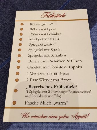 Hotel und Gaststätte zum Erdinger Weissbräu: Frühstück Eier a la carte