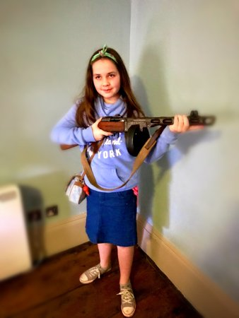 Worcester, UK: My daughter even got to hold an old rifle.