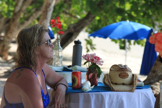 Herradura, Costa Rica: Enjoying the secluded white sand beach