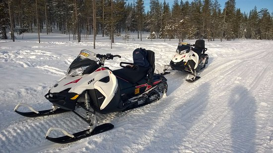 Snow Fun Safaris Lapland: The equipment - I didn't realise snowmobiles are so useful in getting around in the winter!