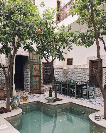 Riad Yamina : The beautiful and tranquil courtyard