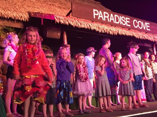 Paradise Cove Luau: learning to dance