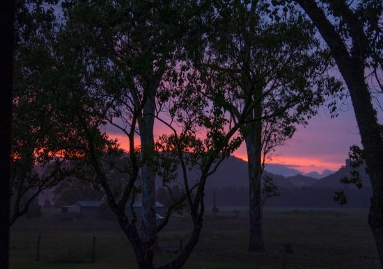 Gloucester Country Lodge Motel: Fantastic sunset over the Bucketts