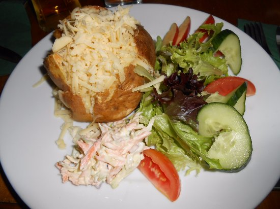 Foresters Arms: Jacket potato with cheese and salad.
